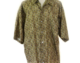Tori Richards Shirt Mens MCM Style Shirt 44 Inch Chest