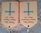 Baptism Favor Tags, Christening Favor Tags, Baptism Boy Favors, Christening Boy Favors, 30 Personalized Thank you Tags