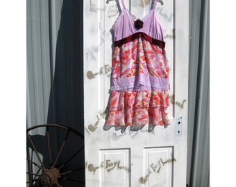 Slip,Dress,Tunic,Size 36,romantic shabby chic,tattered,lagenlook,junk gypsy,eclectic,beach sun dress,indie eco,Upcycled,Repurposed Clothes