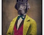 Labrador Art Magnet Labrador Retriever Dog Black Lab Dog Magnets Handmade Pet Portrait Made in Canada Canadian Sellers - Oscar Magnet