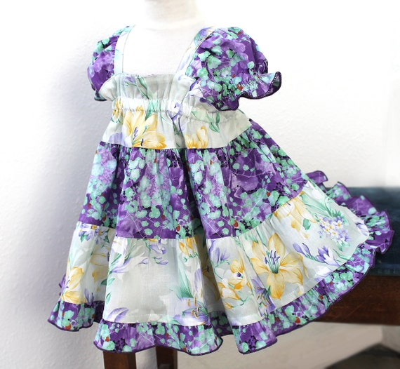 Baby Girl Easter Dress Lily Purple Baby Dress by BerryPatchUSA