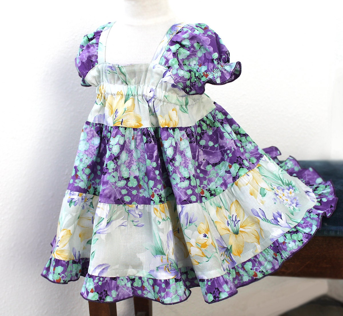 Special Occasion Baby Dress Baby Girl Clothes Teal Ruffle