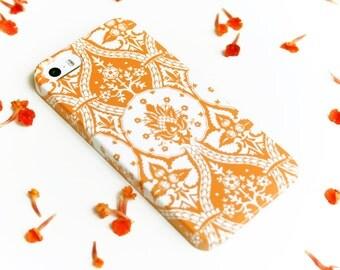 iPhone 6 Case, Orange iPhone 5S Case, Damask iPhone 6S Case, Cell Phone Cover,  Case iPhone 6S Plus Case