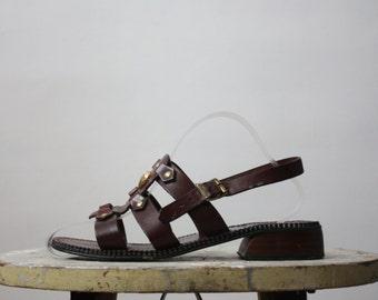 70s sandals / gladiator sandals / size 7
