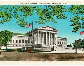 Vintage Washington DC Postcard - The U.S. Supreme Court Building (Unused)