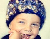 Easy Crochet Baby Hat Pattern, Beanie Hat Pattern, Crochet Preemie Hat Patterns, Popcorn Stitch, Designer Chunky Bubbles Beanie