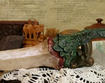 "Dragon Tooth ""Abrasaax"" Dagger (Emerald Green)"