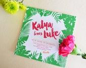Tropical Wishes - Wedding Invitation