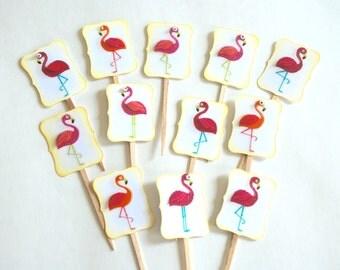 Pink Flamingos - Mingo Cupcake Toppers