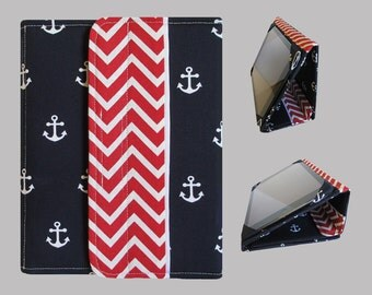 iPad Cover Hardcover, iPad Case, iPad Mini Cover, iPad Mini Case, iPad Air Case, iPad Pro Case, iPad 2, iPad 3, iPad 4 Chevron Anchors