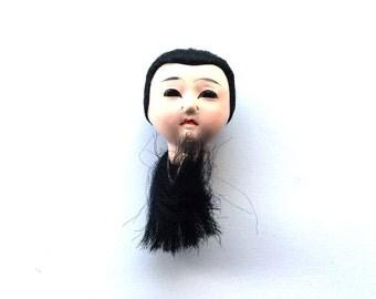Japanese Doll Head - Vintage Doll Head -  Girl Doll Head - Small Doll Head - Woman Doll Head   D36  Small Size