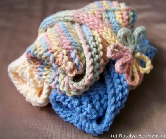 Knitting Patterns For Baby Washcloths : Knitting PATTERN Washcloth Pattern Baby Washcloths by Natalya1905
