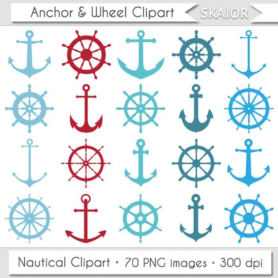 Anchor Clipart Ship Wheel Clipart Nautical Clipart Steampunk