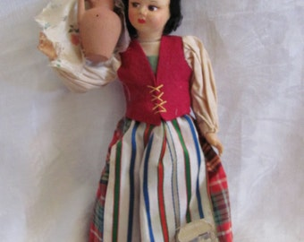 "Vintage 9"" Inch Collectible Doll Souvnier Eros Florence Italy Taormina"