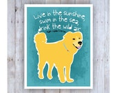 Golden Retriever Art, Golden Retriever Poster, Golden Retriever Decor, Dog Art, Inspirational Art, Ralph Waldo Emerson, Dog Wall Decor