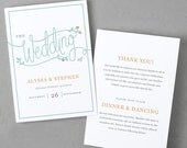 Printable Wedding Program Template   Instant DOWNLOAD   Garden   Folded 5x7   Mac or PC - Pages or Word   Easy DIY   Editable Artwork Colors