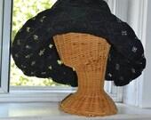 Vintage 80s Sun Hat - Trés Chic - Floppy Wide Brim - Boho Audrey Style - s/m