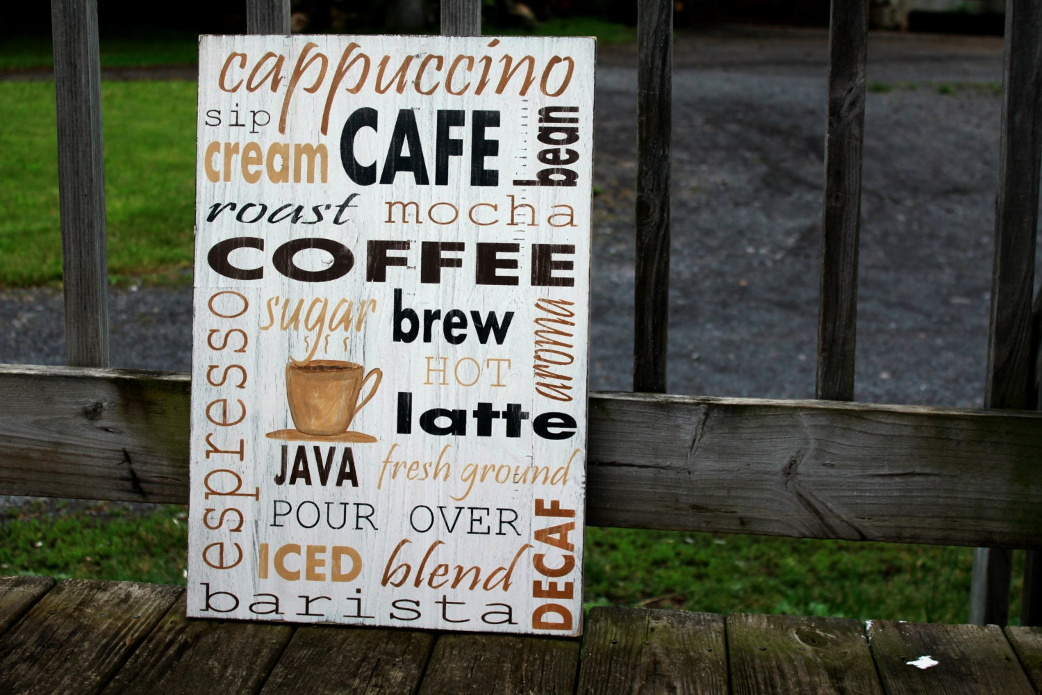 Wall Art Coffee Sign Rustic Sign Wooden Sign Coffee Lover Gift