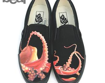 Custom Vans - Octopus Painting