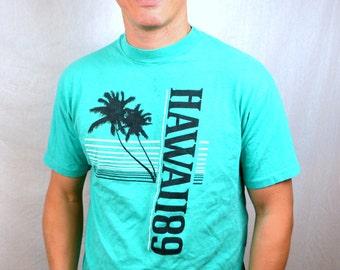 Vintage 80s 1989 Hawaii Souvenir Tee Shirt Tshirt