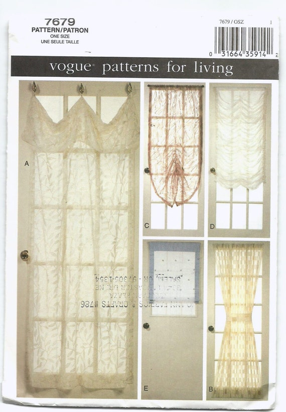 Vogue Home Decor Sewing Patterns Images