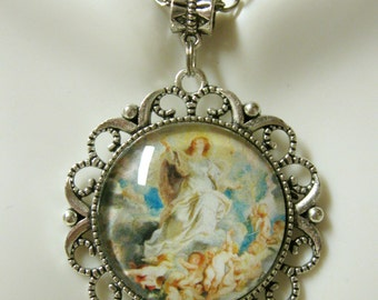 Immaculate conception pendant and chain - AP25-045