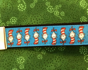 Cat in the Hat Dr Seuss Key Fob Keychain wristlet