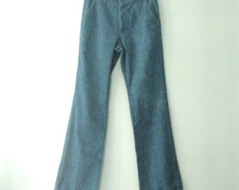 Vintage 70s Farah jeans / Boho chic denim pants / dressed up Hippie jeans / 28 x 31