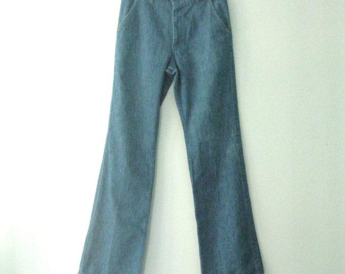 Vintage 70s Farah jeans / Boho chic denim pants / dressed up Hippie jeans / 28 x 31