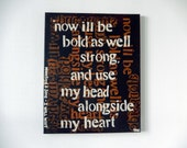 "HALF OFF Mumford and Sons lyrics // 16"" x 20"" Canvas // Great One of a Kind Acrylic Deal // Home decor // Abstract Dorm Decor"