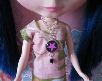 Pink Star Doll Necklace for Blythe, Pullip, Dal, Monster High, Barbie, BJD etc