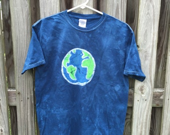 Kids Earth Shirt, Earth Day Shirt, Boys Earth Day Shirt, Girls Earth Day Shirt, Planet Earth Shirt, Batik Earth Shirt (Youth XL)