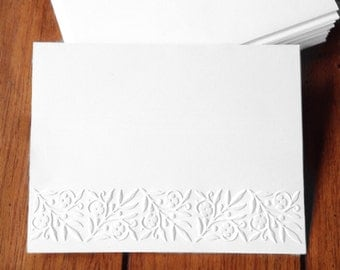 Embossed  Cards / Border / Set of 12 / Card Stock / A2 Envelopes / Craft Supplies / Scrapbooking