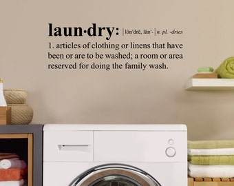 Laundry Definition Decal - Dictionary definition Wall Art - Laundry Room Decor