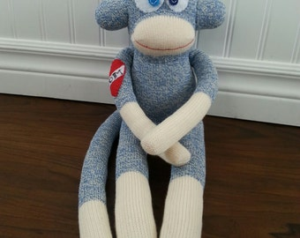 Sock Monkey Doll With tattoo - Rockford Red Heel Your choice of colour!