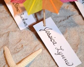 Beach Umbrella Escort Cards/ Favor  2