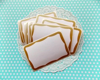 Vintage Gold & White Labels / Daily Planner / Lot of 5 / Junk Journal