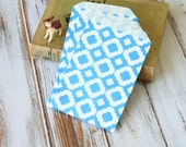 Light BLUE MOD Print Paper Bags