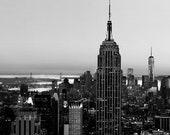 Black and White, New York City Skyline Print, Urban, Travel, Wall Decor, NYC Art, NYC Skyline