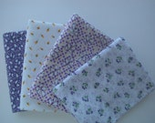 Custom fabric collection inspired by vintage quilt lilac and yellow rosebud