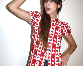 Hello sailor patriotic print tunic