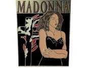 MADONNA Like A Prayer Tour 1989 vintage pin badge band rock concert BANNED Burning Cross