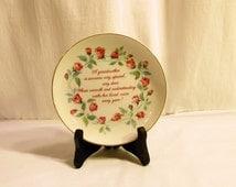 Grandmother's Porcelain Ceramic Plate, Inspirational Poem @ Grandmother, Lasting Memories, American Greetings Wall Decor, Vintage Gift Plate