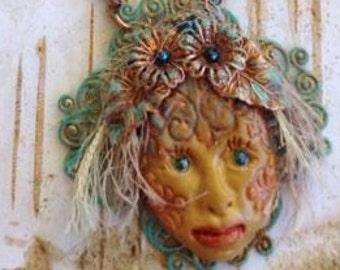 BoHo Polymer Clay Princess Necklace Set