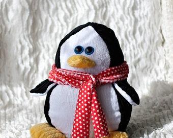"CUSTOM 11.5"" Payton the Penguin Stuffed Animal, stuffed Penguin, large penguin, toys"