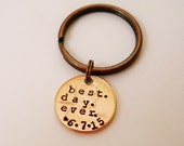 Best Day Ever Keychain: Wedding Day Gift From Bride to Groom/Groom to Bride, Personalized Date, Hand Stamped, Couples Gift, 2016 +, Gift Bag