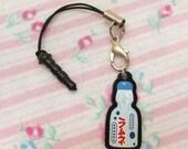 Ramune Japanese Soda Drink Phone Charm with Smartphone Plug