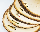Rustic Wood Tree Slice Centerpieces, Trivets, Hot plates, Chargers - Personalized - 9-12 inch diameter