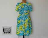 ON SALE - Vintage 1960s Dress - 60s Floral Dress - The Sam