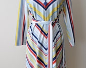 Vintage 60s Colorful Striped Tent Dress